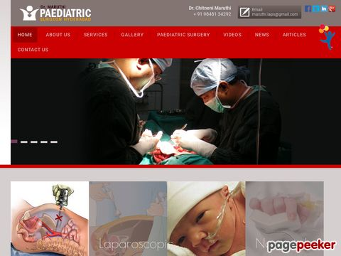Screeshot of Paediatric Urology Hyderabad