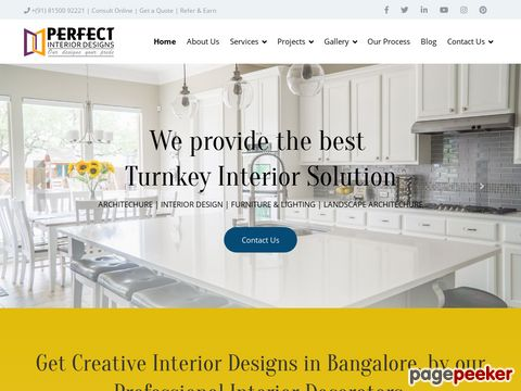 Screeshot of Interior Designs Company, Top Interior Designer in Bangalore