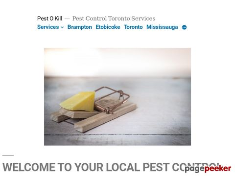 Screeshot of Pestokill Pest Control Services