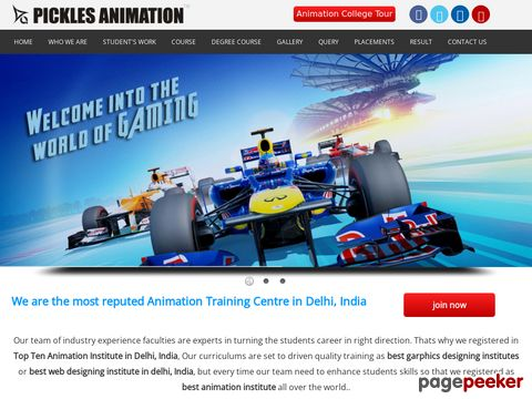 Screeshot of Animation Institute in Delhi