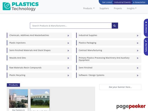 Screeshot of Plastics Technology B2B Portal Complete Business Solutions