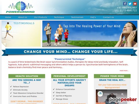 Screeshot of Be stress free & relieve depression by mind power techniques