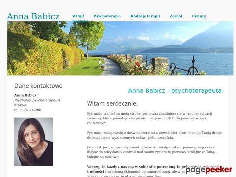 Psychoterapia Warszawa - Anna Babicz