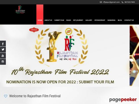 Screeshot of Festival Film Rajasthan