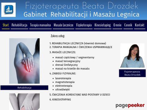Beata Drozdek Rehabilitacja w Legnicy
