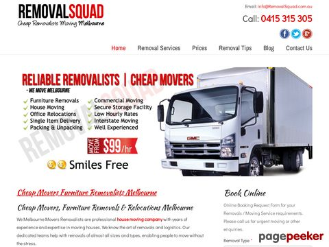 Screeshot of Cheap Furniture Removals Melbourne, Cheap House Moving Melbourne, Home Relocation in Melbourne,