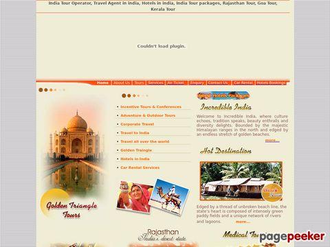 Screeshot of Delhi Travel Agency