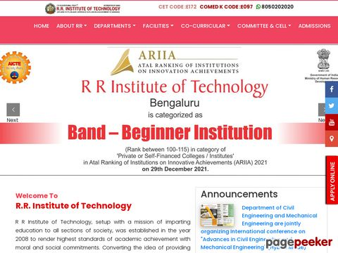 Screeshot of Top 10 engineering colleges in bangalore