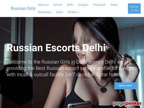 Screeshot of Russian Escorts girls in Delhi