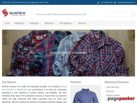 Siatex (BD) Ltd – Garments Supplier from Bangladesh
