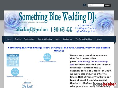 Screeshot of Wedding Dj Services Kitchener