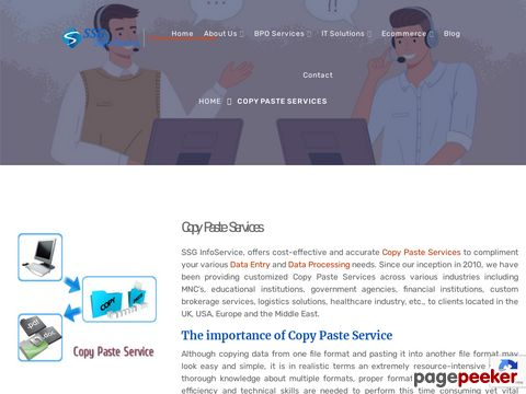 Screeshot of Outsource Copy Paste Services In India