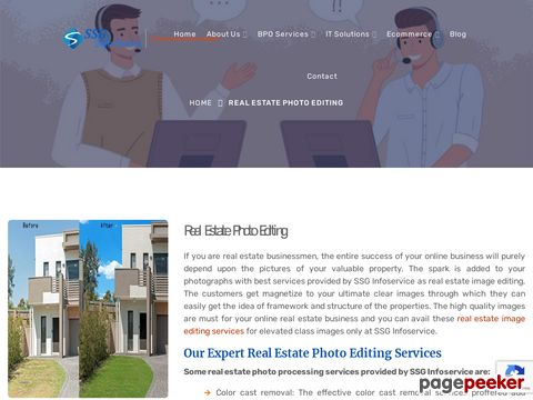 Screeshot of Real Estate Image Editing Services