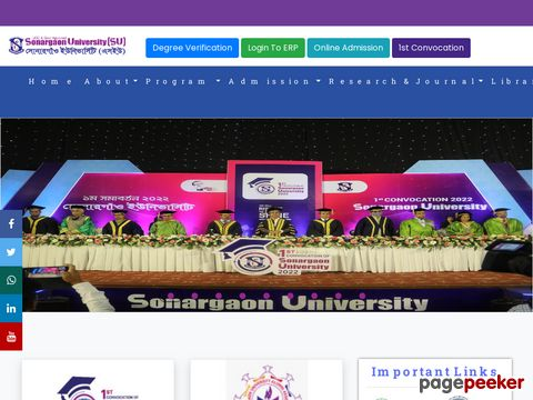 Sonargaon University – Private university of Bangladesh