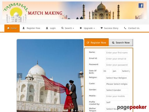 Screeshot of Matchmaking Services, Best Free Matrimonial Services in India, USA