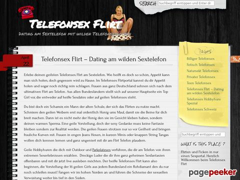 Telefonsex Flirt - Dating am Ficktelefon
