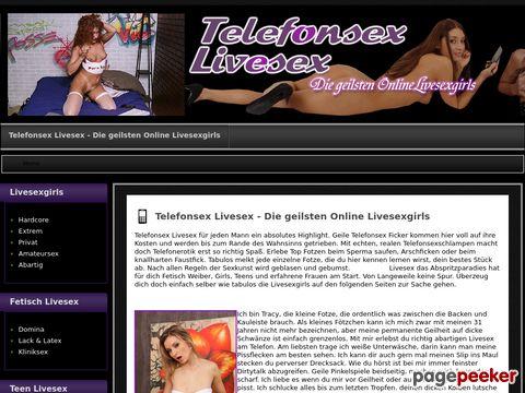 Telefonsex Livesex - Brandheiße Livesexgirls