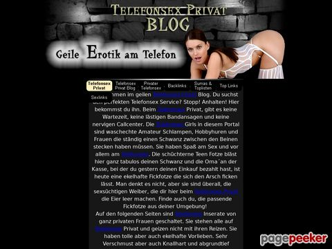 Telefonsex Privat Blog