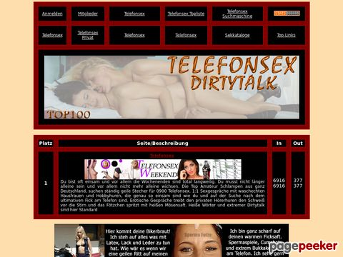 Details : Verbalerotik Top100 - Top Dirtytalk am Sextelefon