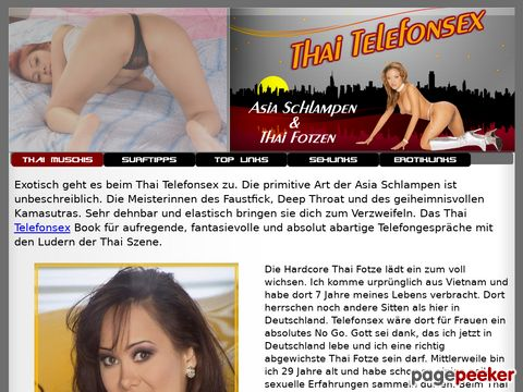 Details : Thai Telefonsex - Asia Schlampen & Thai Fotzen