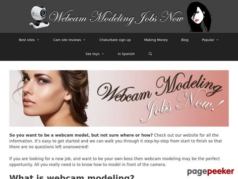 Screeshot of Best cam sites? | Webcammodelingjobsnow.com