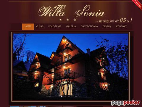 Pensjonaty Zakopane - Willa-Sonia.pl