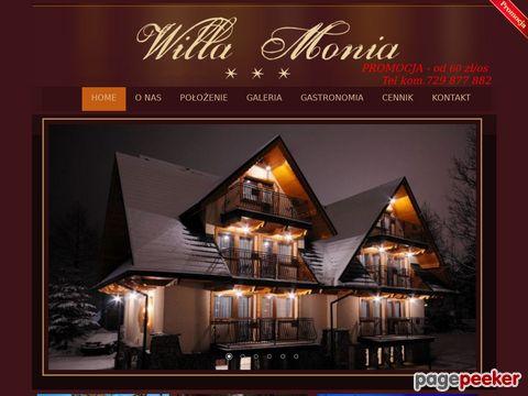 Willa Monia - pokoje, noclegi i apartamenty w Zakpanem
