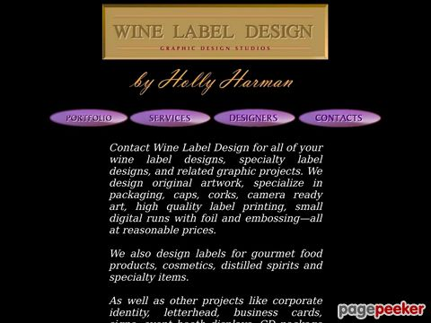 Screeshot of Wine Label Design