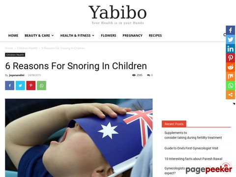 Screeshot of Reasons For Snoring In Children