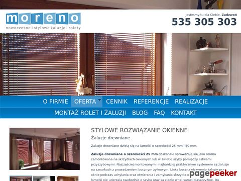 Rolety Warszawa cennik