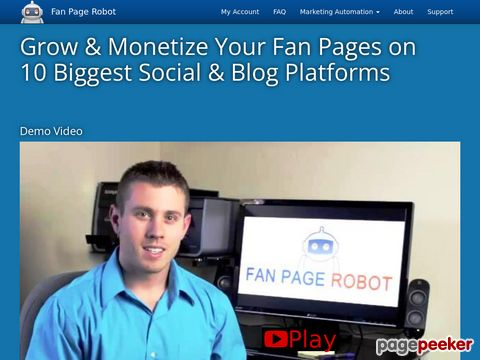 Fan Page Robot - 10-in-1 Marketing Software Autoposter to Increase Social Media Followers