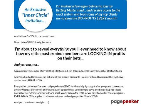 Profit Maximiser Matched Betting System