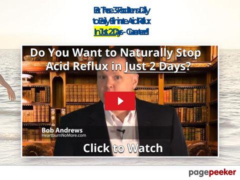 Heartburn No More Video - Stop Acid Reflux in 48 Hours