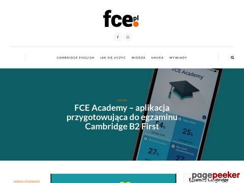 certyfikat FCE