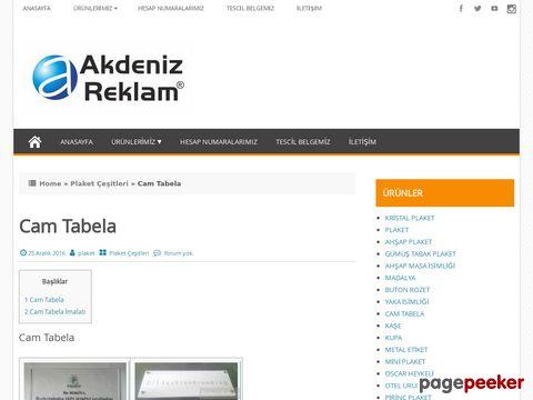 Cam Tabela | Akdeniz Reklam