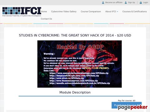 Screeshot of Best computer hacking forensic investigator training in NEW YORK