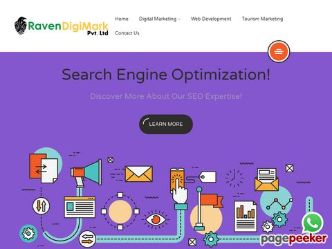 Screeshot of Internet Marketing | Digital Marketing Agency in India - Raven DigiMark