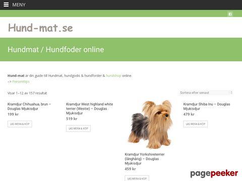 Hundmat - torrfoder eller naturligt hundfoder?