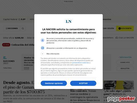 Captura de Pantalla de La Nación