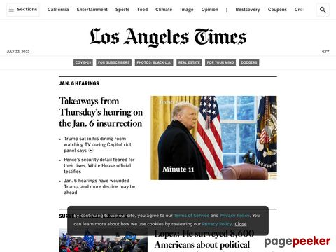 Captura de Pantalla de Los Angeles Times