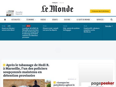 Captura de Pantalla de Le Monde