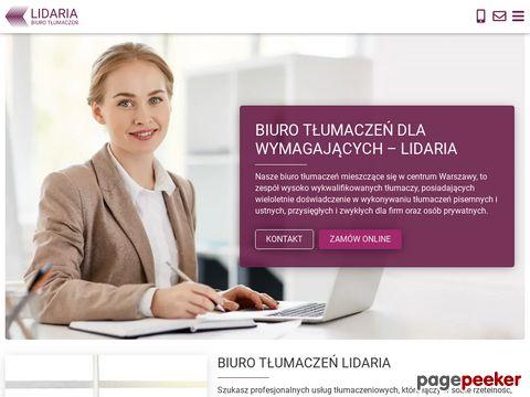 Biuro Tłumaczeń Lidaria.