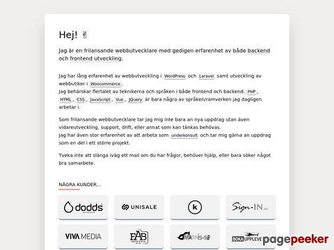 Magnus Andersson - Webbdesigner & Webbutvecklare