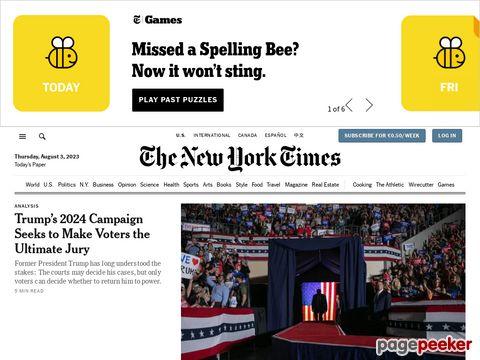 Captura de Pantalla de The New York Times