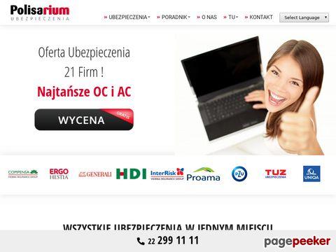 POLISARIUM.pl tanie UBEZPIECZENIA OC AC NNW Assistance w Warszawie na Mokotowie (22) 646-01-79