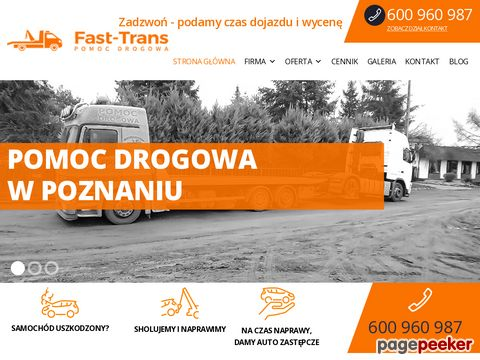 Auto Pomoc drogowa, holowanie, tel: 600 960 987 laweta Poznań