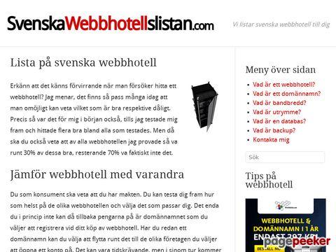 Svenska Webbhotell | Svenska Webbhotell