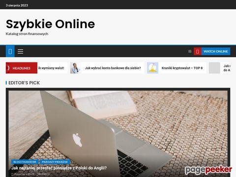 Szybkie kredyty gotówkowe online przez internet