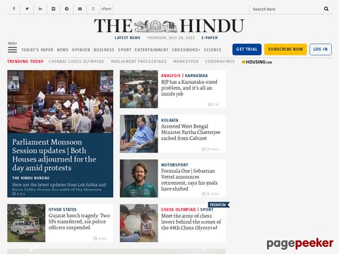 Captura de Pantalla de The Hindu