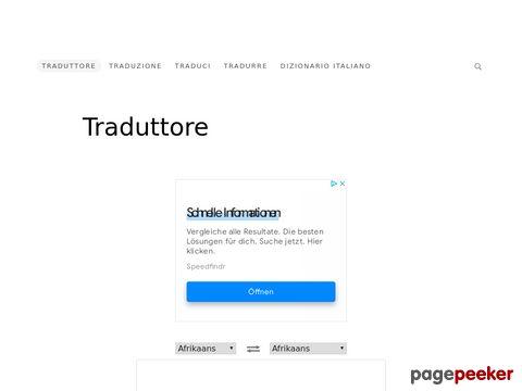Traduttore - Traduci il tuo testo qui